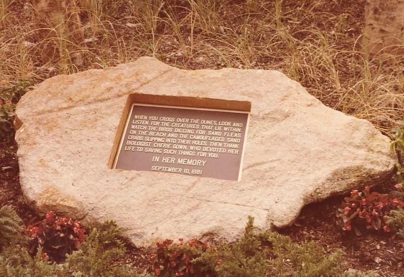 Cherie Down Park Memorial Plaque