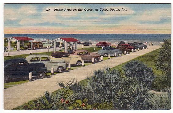 Vintage Postcard, Cocoa Beach, Florida