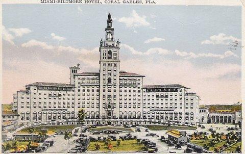 Biltmore Hotel Coral Gables Postcard