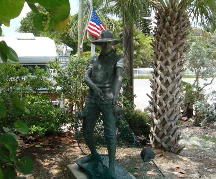 Cortez Florida Fisherman Statue