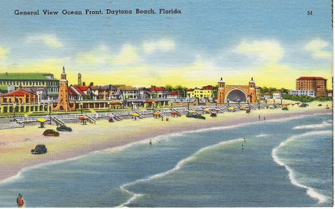 Vintage Postcard Daytona Beach, Florida
