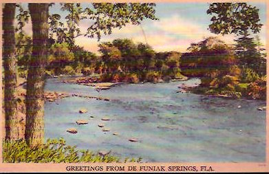 Vintage Postcard DeFuniak Springs, Florida