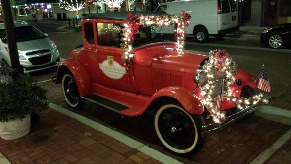 Peddler's Wagon Car Dressed for Christmas