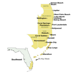Southeast Florida Travel Guide Map
