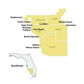 Southwest Florida Travel Guide Map