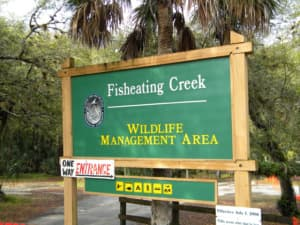 Fisheating Creek Sign near Palmdale, Florida