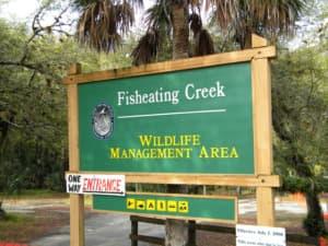 Fisheating Creek Sign near Palmdale, Florida