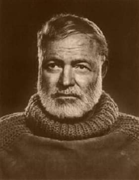Ernest Hemingway by Yousuf Karsh, 1957