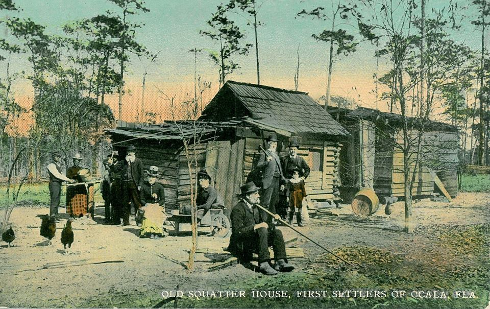 Vintage Photo of Early Settlers in Ocala, Florida