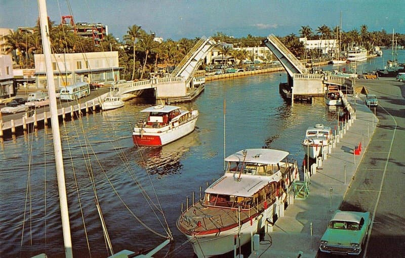 Vintage Postcard Fort Lauderdale New River