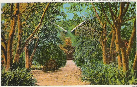 Fort Myers Ford Home Postcard
