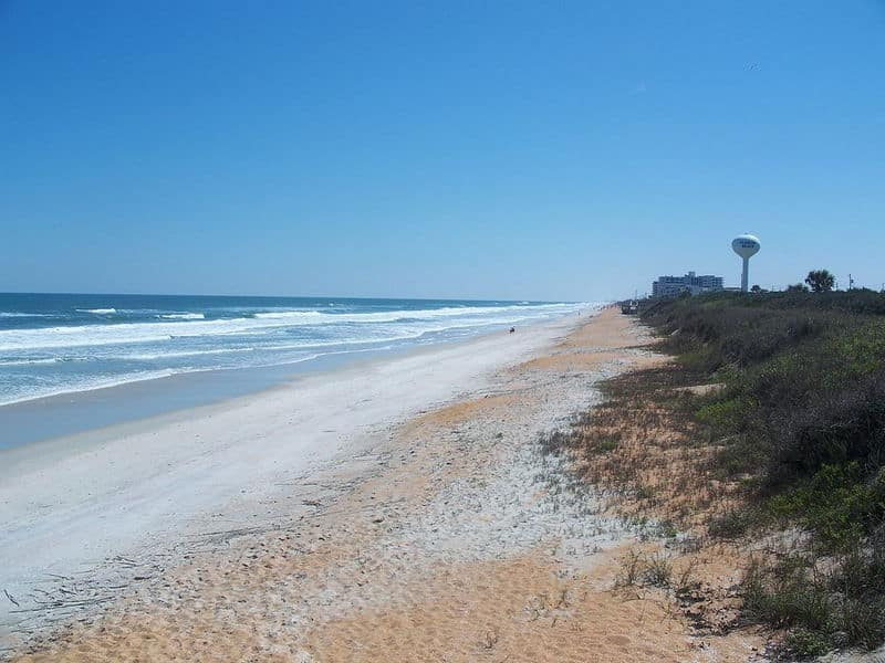 Beach at Gamble Rogers Memorial State Recreation Area at Flagler Beach