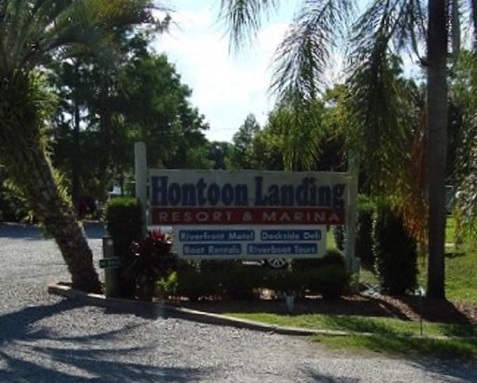 Hontoon Landing Resort Entrance