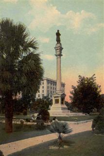 Jacksonville Florida Confederate Monument Postcard