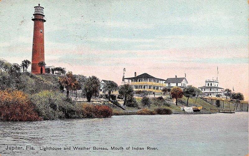Jupiter Lighthouse Vintage Postcard