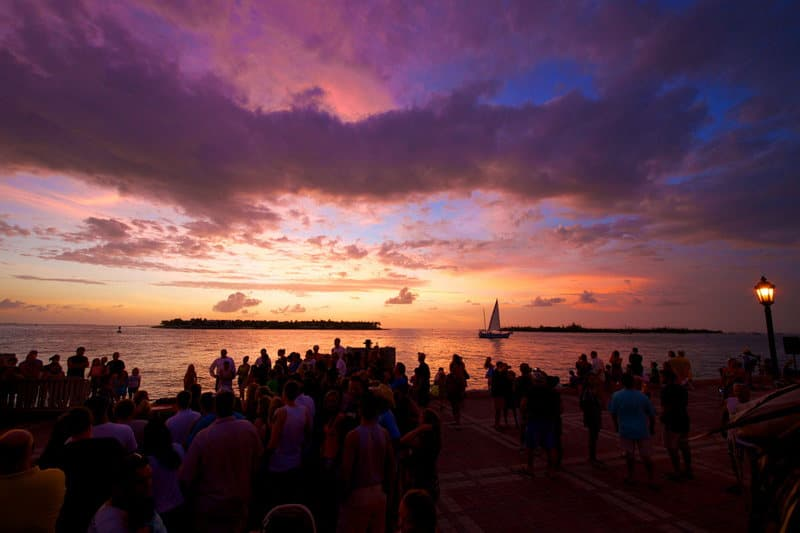 Sunset at Mallory Square, Key West