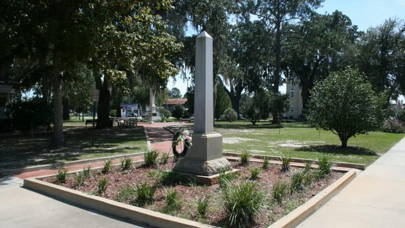 Monument to the former slaves of Madison County, Florida