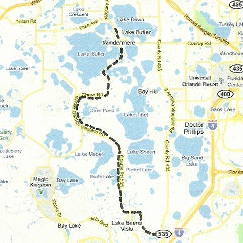 Central Florida Day Trip Lake Buena Vista to Windermere