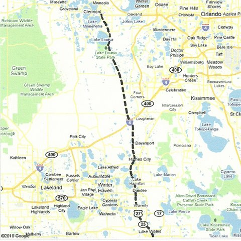 Scenic Drives In Florida From Coast To Coast And In Between - Us 27 map