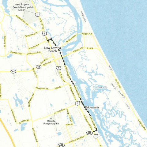 New Smyrna Beach To Edgewater