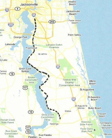 Map NE002 Jacksonville to Spuds