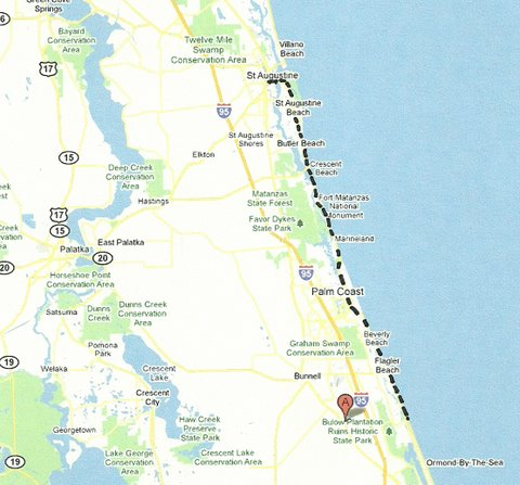 Map NE004 Highbridge Road to St Augustine