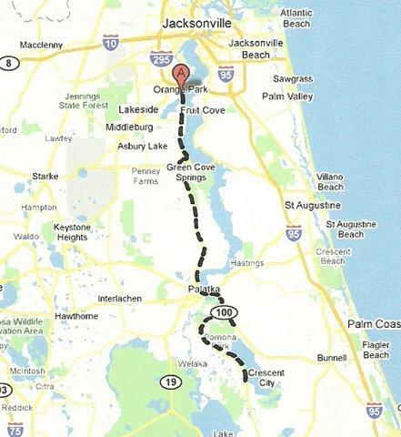 Map NE005 Orange Park to Crescent City