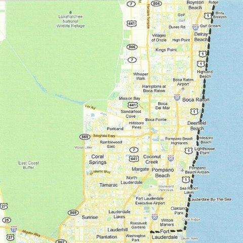 Map SW005 Boynton Beach to Fort Lauderdale