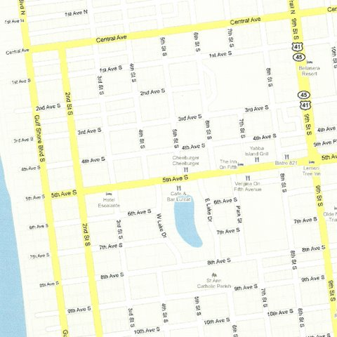 Map SW007 Downtown Naples Fifth Avenue