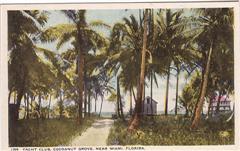 Coconut Grove Yacht Club Postcard