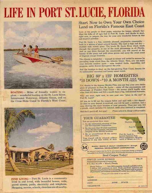 Port St Lucie Florida Sales Poster