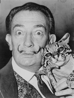 Salvador Dali and Cheetah
