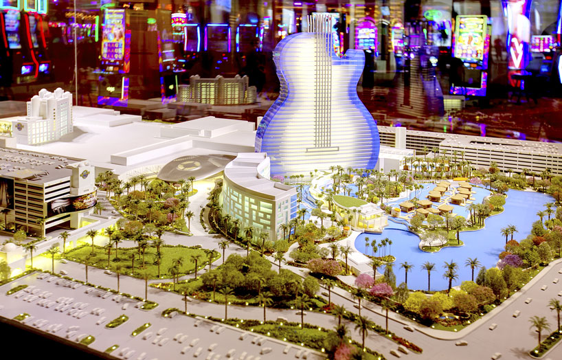 Model of Expanded Seminole Hard Rock Hotel and Casino