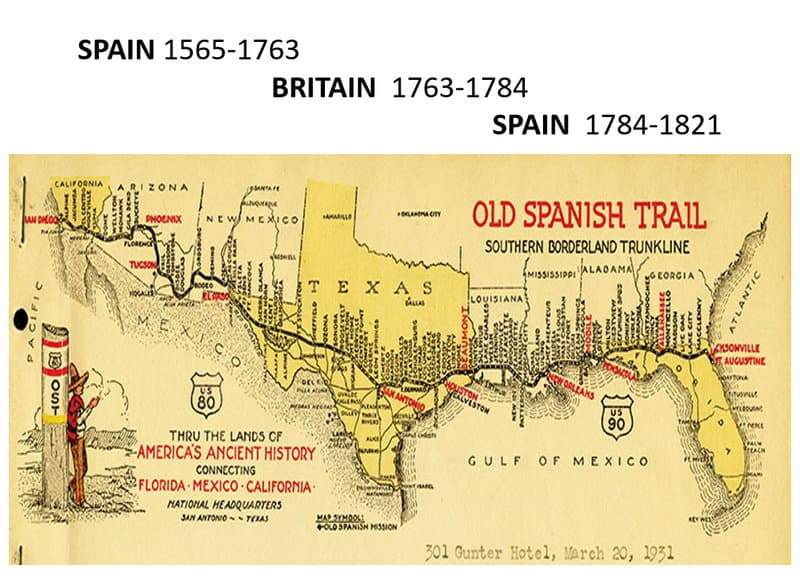 Old Spanish Trail Preceded I-10 and US-90 Through Florida