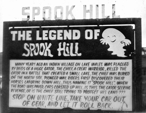 Sign at Spook Hill, Lake Wales
