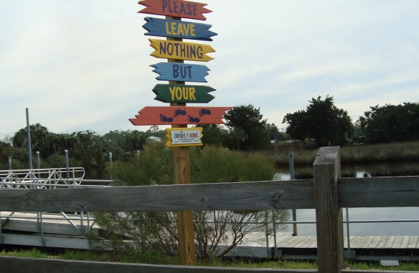 Sign on the Steinhatchee River