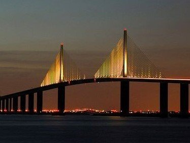 Sunshine Skyway Across Tampa Bay