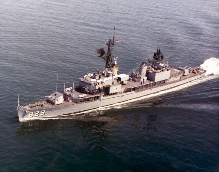 USS Myles C. Fox DDR-829