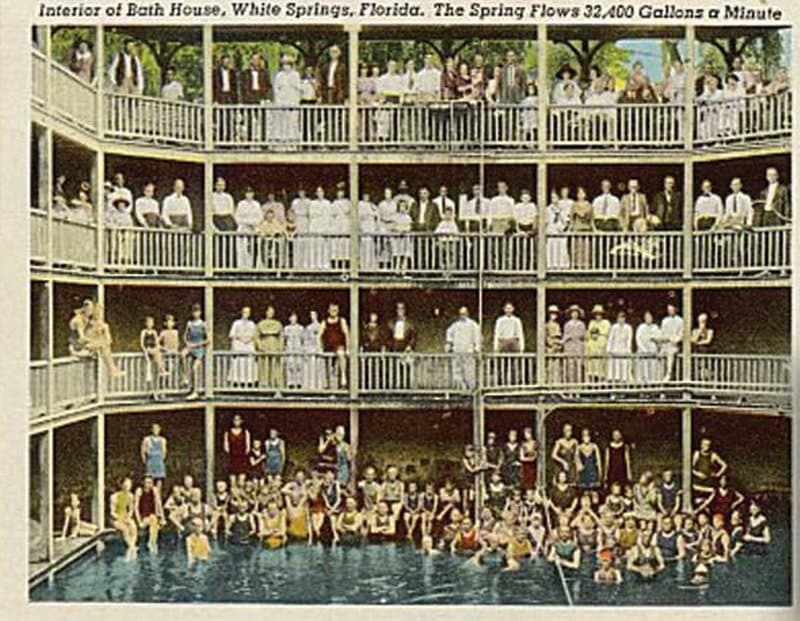 Vintage Postcard White Springs, Florida