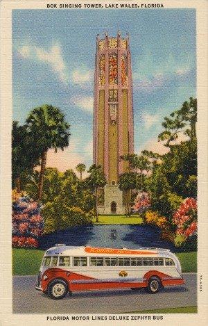 Vintage Postcard of Bok Tower Gardens