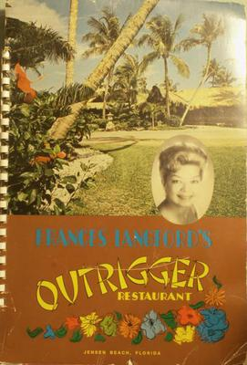 Frances Langford Outrigger Menu